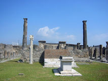 Columns in Pompeii. At day, in Italy Royalty Free Stock Photo