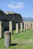 Columns, Pompeii Archaeological Site, nr Mount Vesuvius, Italy Royalty Free Stock Photo