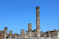 Columns in Pompeii Stock Photography
