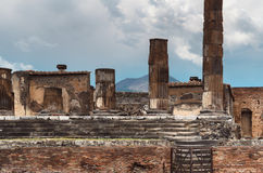 Columns in Pompeii Royalty Free Stock Images