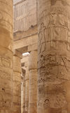 Columns at Precinct of Amun-Re in Egypt Stock Image