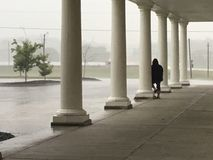 Columns and rain Stock Image