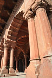 The Columns of Red Fort in Delhi, India stock photography