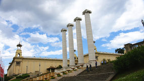 Columns representing the four Catalan bars Royalty Free Stock Photography