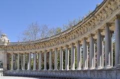 Columns. In the Retiro park in Madrid, Spain Stock Photography