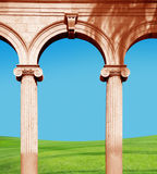 Columns from Ringling Museum Royalty Free Stock Photography