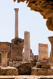 Columns in the Roman Baths Royalty Free Stock Images