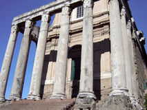 Columns of Roman Forum Stock Photo