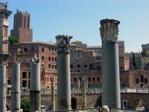Columns of the Roman forum . royalty free stock photo
