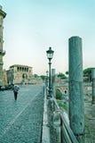 Columns of Roman Forum in Rome in Italy Stock Photos