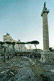 Columns of Roman Forum in Rome Italy Royalty Free Stock Photography