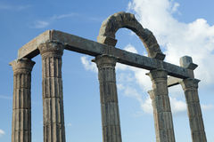 Columns with Roman ruins. On the blue sky Royalty Free Stock Photo