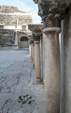 Columns at the Roman theater. In Amman in Jordan, is an image vertically on a sunny day Royalty Free Stock Image