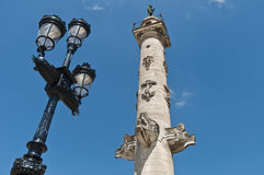 Columns of Rostrales at Bordeaux, France Royalty Free Stock Photos