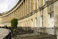 Columns at the Royal crescent, Bath Stock Photos