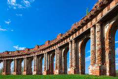 Columns of ruined castle Stock Image
