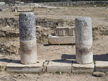 Columns and ruins of ancient Artemis temple Royalty Free Stock Photos