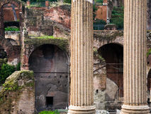 Columns and ruins on Capitoline Hill, Rome, Stock Photos