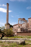 Columns Ruins at foro romano - Roma - Italy Royalty Free Stock Photos