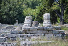 Columns of the ruins of Paestum Royalty Free Stock Photography
