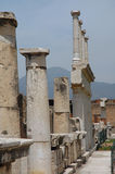 Columns and Ruins In Pompeii, Italy. Columns of the Forum in Pompeii, Italy stock images