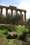 Columns ruins sicily Royalty Free Stock Photo