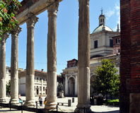 Columns of Saint Lawrence in Milan Stock Photo