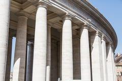 Columns at Saint Peters Square Stock Image