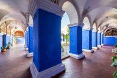 Columns in Santa Catalina Monastery Royalty Free Stock Photography