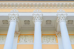 Columns and sculptures of Michael palace, building of the State Russian museum in St Petersburg, Russia Royalty Free Stock Image