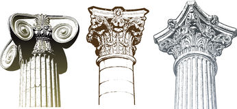 Columns set Stock Image