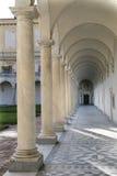 Columns and shadows at the Certosa di San Martino - monastery at Naples Royalty Free Stock Photos