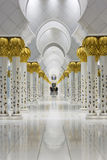 Columns In the Sheikh Zayed Grand Mosque Stock Image