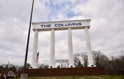 The Columns Shopping Center, Jackson, Tennessee. The Columns shopping center with 41 stores on the mall located in Jackson, Tennessee at Vann Dr. Anchored by Royalty Free Stock Photography