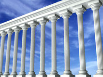 Columns & Sky. Greek columns with the sky in the background vector illustration