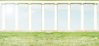 Columns Sky and Meadow Royalty Free Stock Photography