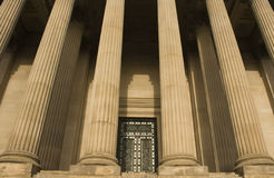 Columns on St Georges Hall,. Liverpool, England, completed in 1854 Royalty Free Stock Image