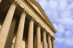 Columns on St Georges Hall, Li. Verpool, England, completed in 1854 Royalty Free Stock Image