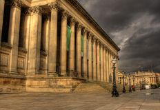 Columns on St Georges Hall, Liverpool. HDR Royalty Free Stock Images