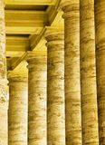 Columns in St. Peter`s Square, the Vatican. stock images