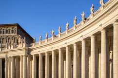 Columns on the St. Peter& x27;s Square, Vatican City, Italy Stock Photography
