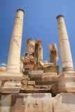 Columns and statues Ephesus Royalty Free Stock Photos
