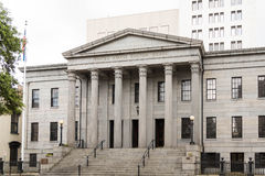 Columns and Steps on Customs House Stock Images