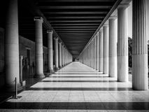 Columns at the Stoa of Attalos in the ancient Agora & x28;Forum& x29; of A. Columns at the Stoa of Attalos in the ancient Agora & x28;Forum& x29; of Stock Photo