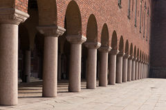 Columns of Stockholm town hall Stock Images