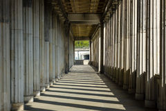 Columns. Stretching into the distance Stock Photography