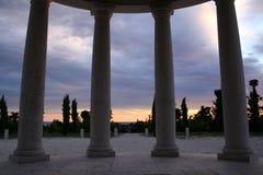 Сolumns at sunset Stock Photography