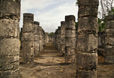 These columns surround the Temple of the Warriors Royalty Free Stock Images