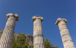 Columns temple of Athena Polias Stock Photos