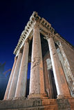 Columns of the temple of Augustus in Pula Royalty Free Stock Photo